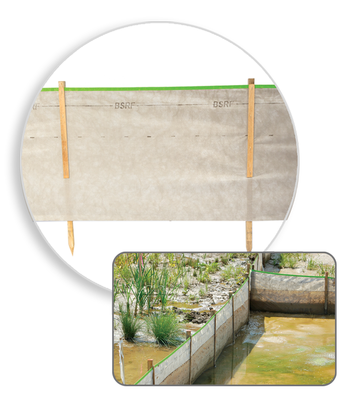 BSRF Priority 1 silt fence