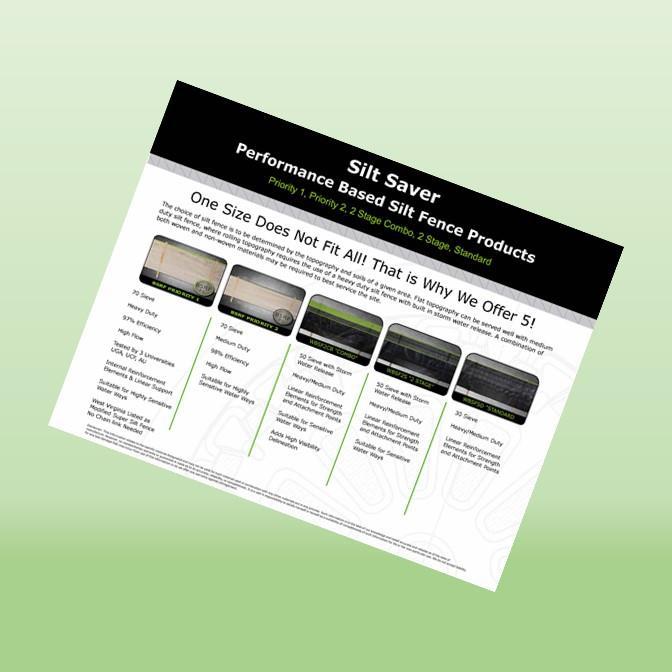 Silt Saver Performance Based Silt Fence Products