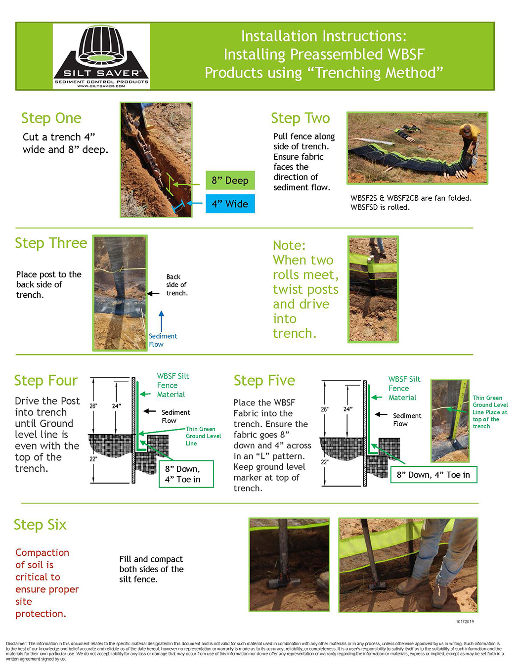 HOW TO INSTALL WBSF Pre-Assembled Silt Fence kp080320