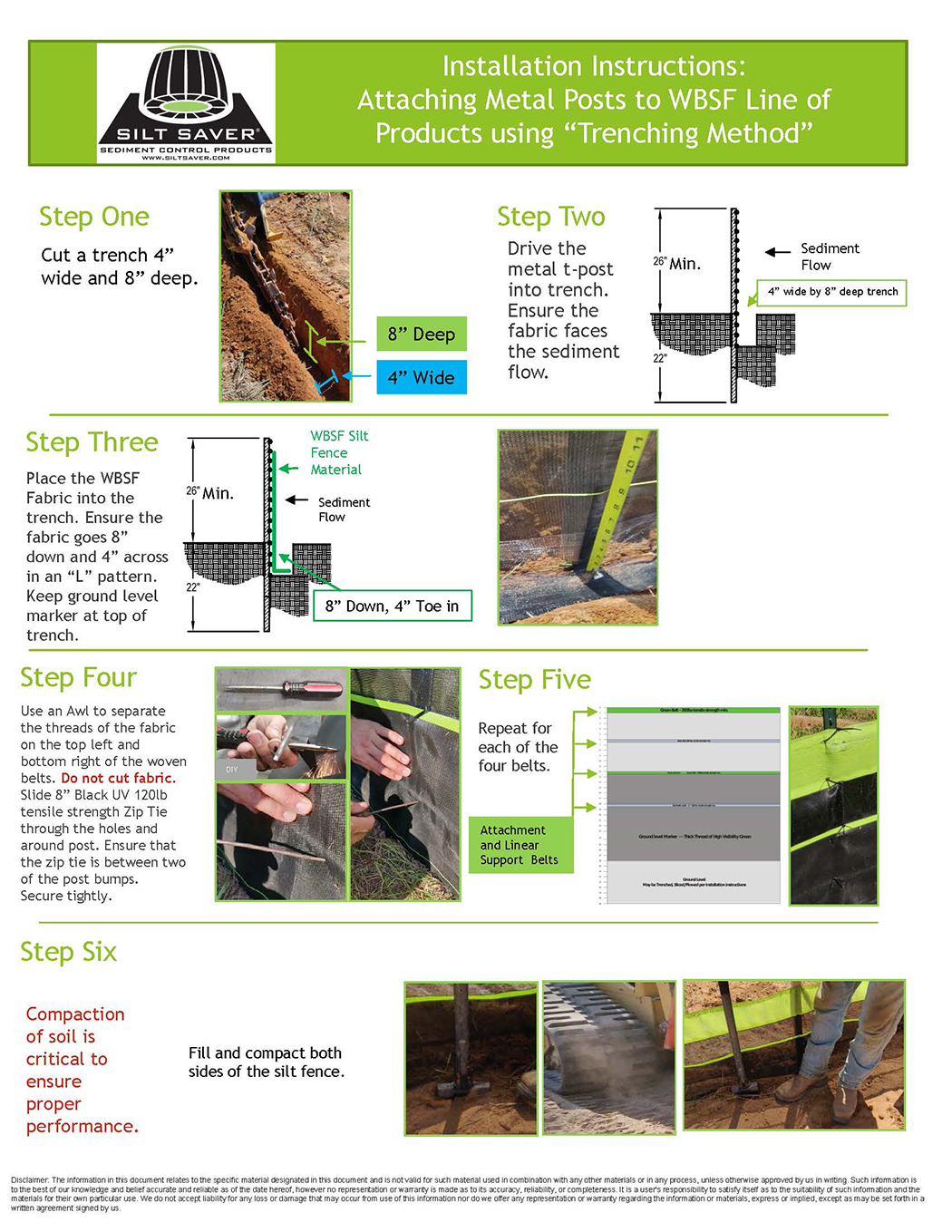 HOW TO INSTALL WBSF line of Products to Metal Posts Trench method kp080320