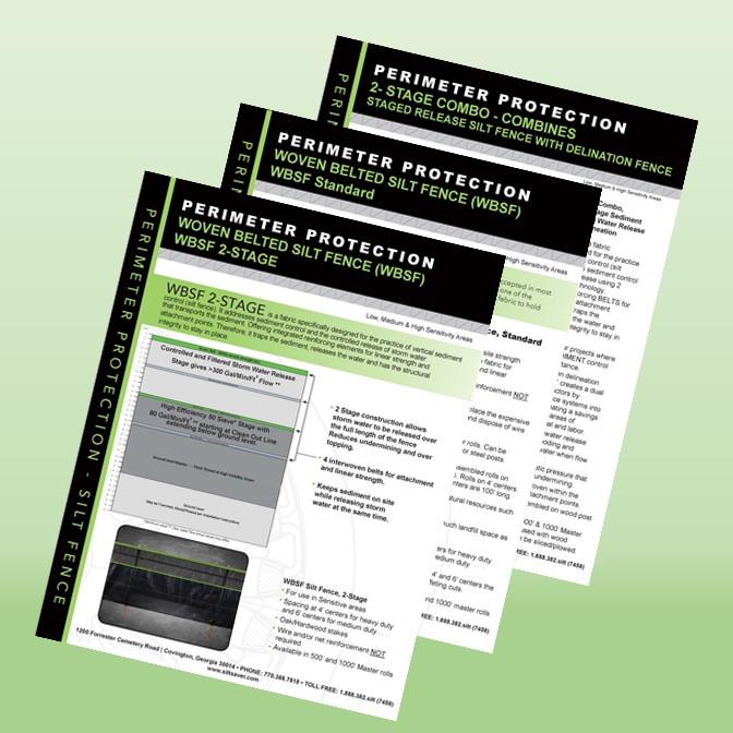 WBSF Line of Silt Fence Brochure
