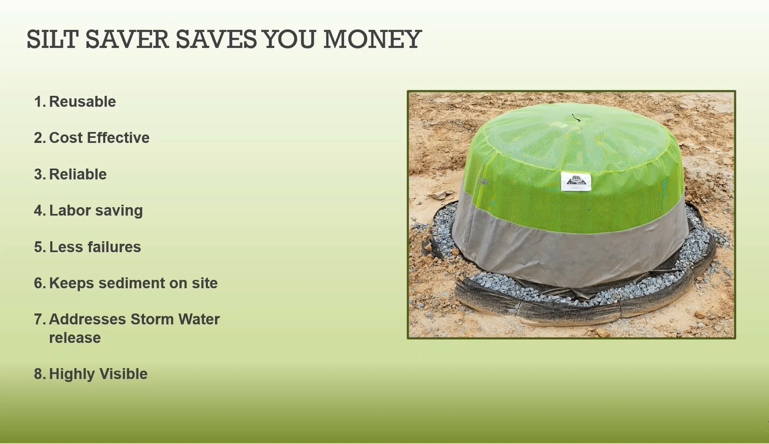 Silt Saver Inlet Protection Domes - The Solution Thumbnail